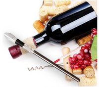 Wholesale Wine chillers stick Stainless Steel Wine Bottle Coolers Chill Wine Chill cool Stick Rod with Wine Pourer DHL