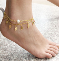 beaded jewellery patterns - Beaded Anklets Patterns Gold Silver Anklets for Women Chaine Cheville Barefoot Sandals Bracelet Foot Chain Jewellery
