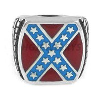 wholesale biker jewelry - Classic American Flag Ring Stainless Steel Jewelry Fashion Red Blue Stars Motor Biker Men Ring SWR0270H