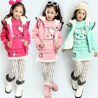 Wholesale 2014 Autumn Winter Children Girl s Good Quality Sport Set Long Sleeve Pant Skirt Outfits Set Hooded Vest Shirt Skirt Pant Sets B