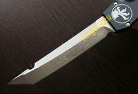 kydex - Microtech Halo V KNIFE T E Satin fine edge Tanto point pocket knife knives w Kydex sheath