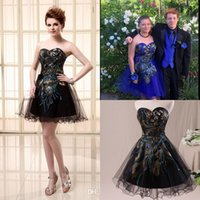 Cheap Model Pictures prom dresses Best Strapless Tulle mini prom dresses