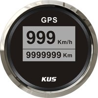 Wholesale 52mm digital GPS speedometer CCSB with mating antenna stainless steel bezel black face LED backlight km h for universal car