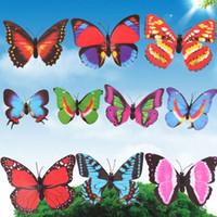 Wholesale Colorful Butterfly Garden Ornaments Flowerpot Decoration Jardin w Stick SGG