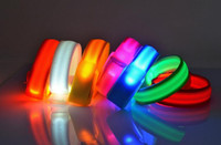 nylon straps - Nylon Band LED Flashing Arm Band Wrist cm Strap Armband light for Outdoor Sports Safety Activity Party Club Cheer Night Light