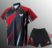 Wholesale Men s butterfly sports clothes Badminton shirts badminton sports wear