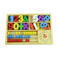 Precio de Cajas de madera relojes-A estrenar Niño de madera juguetes educativos / bebé multifuncionales digitales de aprendizaje Box bloques de aseo gratuitos para bebés Juguetes de la matemáticas 1set