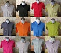 brand golf shirt - new mens brand short sleeve Breathable quick dry t shirt golf sport Running outdoors t shirt