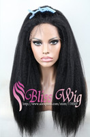 Wholesale Cheap Italian Yaki African American Wig Glueless Brazilian Virgin Remy Human Hair Kinky Straight Lace Front Wigs For Black Women