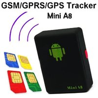 band monitor system - Mini A8 GPS Personal TRACKER Quad Band GSM GPRS LBS Audio Bug Monitor with Sound control Dialing SOS LocationTracking System For Kids JF B9