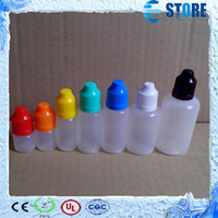 Wholesale LDPE Needle Bottles with Childproof Safety Cap and Long Thin Dropper tip ml ml ml ml ml ml ml E Liquid Dropper Bottle Fedex Free