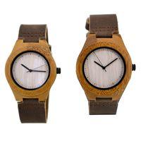 wood watches wholesale - 2015 New Fashion Wooden Watches Wood Band Natural Wood Wooden Watches For Mens Women Wood Wristwatch Wooden Watch Date Bracelet Bangle