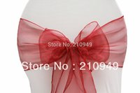 apple red chair sashes - wedding sash chair sashes apple red organza sashes
