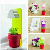 Wholesale Rainy Wall hung Flower Pot Set With A Cloud Shaped Water Filter Pot Seeds Soil