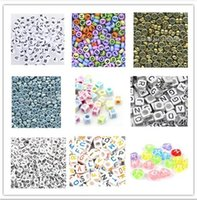 "Cheap 200pcs 6mm Mixed Alphabet ""A-Z"" Cubic Letter Beads Acrylic Spacer Beads For Loom Band Bracelet AE01418"