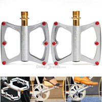 Wholesale Kactus KTPD Bike MTB BMX Flat CNC Bearings Pedals Cycling Sealed Bearing PedalsGold plating Titanium Spindle Footrest