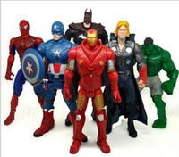 Wholesale Factory Price The Avengers Captain America Wolverine Thor Spiderman Batman Action Figures Toy PVC Figure Toys CM