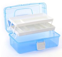 Cheap Wholesale-3 Layer Multi Utility Storage Case professional Nail Art box manicure kit nail tool Makeup box large size #60kj