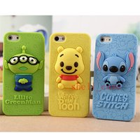 winnie the pooh s4 - 2015 D Stitch Little Green Man Winnie the Pooh Soft Silicone Case for iPhone S S Samsung Galaxy S3 S4 NOTE2 NOTE3 I9500 N7100 DHL