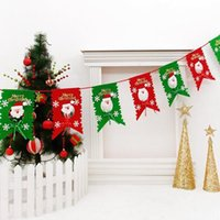 Wholesale 30 cm Santa Hanging Flag Christmas Ornament Christmas Decorations Supplies scene layout Beautiful for Xmas m CHR