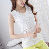 Wholesale Lace Crochet Camisole tunic sarafan Vest women s clothing made in china korea style High Quality Hot Popupar