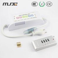 Wholesale MJJC High Voltage V V AC RF RGB LED Controller W for V V SMD RGB LED Strip Light
