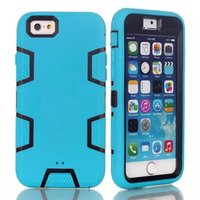 Cheap 3 in 1 Phone cases for Apple Brand Hybrid Robot Mobile Phone Case for iPhone 6 Case With OPP Package 100PCS up