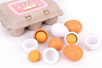 Wholesale Educational Kid Pretend Play Toy Set Wooden Eggs Yolk Kitchen Cooking New