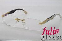 artist mix - Hot Rimless Maybach THE ARTIST Black Mix White Buffalo Eyeglasses Men popular Metal Glasses Size mm
