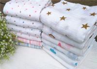 baby blankets wholesale - 120 cm g Muslin Blanket Aden Anais Baby Swaddle Wrap Blanket Blankets Towelling Baby Spring Summer Baby Infant Blanket K5517