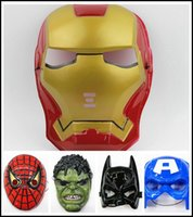 Wholesale 2015 The Avengers mask superhero mask Spiderman Hulk Captain America Batman Iron Man masks super hero cosplay accessory J061701 EMS