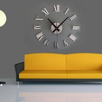Wholesale roman digital diy personalized acrylic wall clocks art modern new living room special offer clock watch big