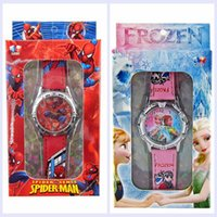 baby boy gift box - Retail box Violetta despicable me spiderman kids watch boys girls fashion cute children cartoon watch with box baby gift