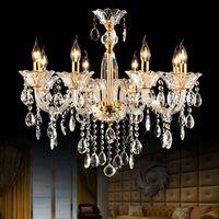Wholesale modern glass chandelier bedroom ceiling chandelier lights luxury crystal chandelier dining room branch chandeliers kitchen