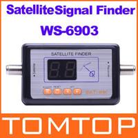 Wholesale Satlink WS Digital Displaying Satellite Finder Meter Freeshipping Dropshipping