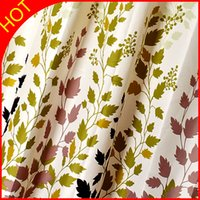 Wholesale Green Polyester Shower Curtain Waterproof Bathroom Fabrics Modern Elegant cm High Plastic ECO Friendly Bath Curtains New