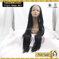 best synthetic hair for braiding - Hand Braided wig Lace Front Braid Synthetic hair wig for black women synthetic braiding hair wigs best quality fast