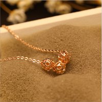 ball preserving - fashion color preserving gold necklace short chain ball hollow out collarbone chain star model for woman
