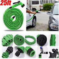 Wholesale Functional ft Garden Water Hose Spray Gun Car Water Pipe Valve Expandable Flexible US Or UK Connector Blue Green