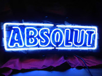absolute lights - NEON SIGN ABSOLUTE VODKA HANDICRAFT REAL GLASS LIGHT TUBE GAMEROOM BEER BAR PUB x14 quot
