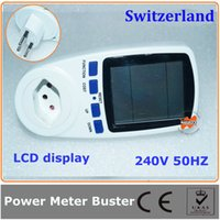 appliance voltage - Switzerland plug digital Solar Power Meter with LCD for Monitoring the Appliances Power HZ KWH Voltage Current CH Plug