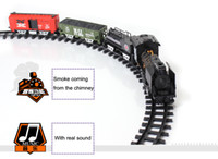 battery operated toy train set - Better than Thomas Train Classic toys Enlighten Train Battery Operated Railway Car Electric Train Set with Sound Smok Rail Car