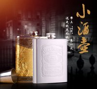 Wholesale Outdoor Oz Stainless Steel Hip Pocket Wine Whiskey Flask Bottle Flagon Kettle