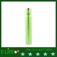 Cheap Most popular new electronic cigarette x6 with v2 clearomizer and 1300 mah battery