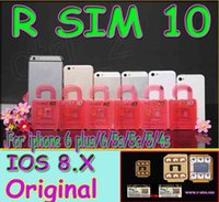 Wholesale RSIM Unlock Card R SIM R SIM unlock for iphone plus s c s iOS6 X X WCDMA GSM CDMA