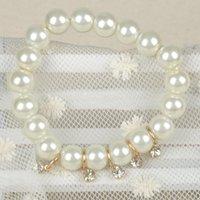 Wholesale Casual Women Bangles Jewelry Charm Rhinestone Bracelet Crystal Faux Pear Bracelets PSS0123