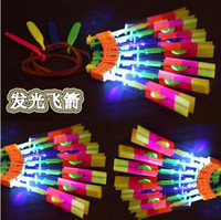 Wholesale 2015 Lowest Price Hot Funny Shining Rocket Flash Copter Arrow Helicopter Neon Led Light dhl FREE SHIING
