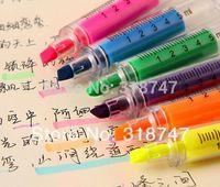 Wholesale Novelty Syringe Highlighter Plastic Fluorescent Liquid Marker Pen for LED Writing Board