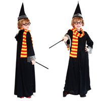 beauty theme - Harry Potter Costume Robe Scarf Cap Glasses Magic Wand Sticks Cosplay Fancy Dress Halloween Theme Outfit