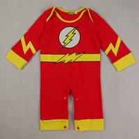 baby flash costume - Baby Boys Romper Superhero The Flash Infant Costume Bodysuit Long Sleeves